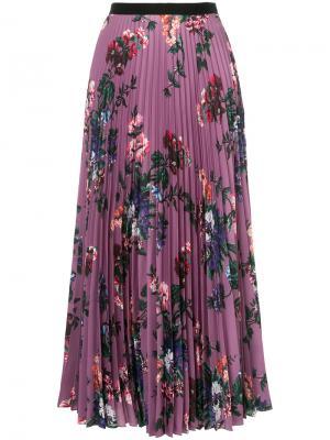Платье с завязками на бант Erdem. Цвет: розовый и фиолетовый