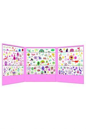 1001 наклеек для девочек Djeco. Цвет: розовый