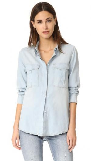 Рубашка из денима Wish AYR. Цвет: хлопок