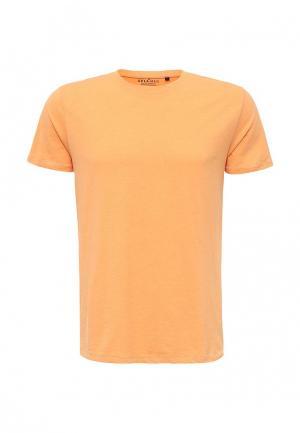 Футболка Sela. Цвет: оранжевый