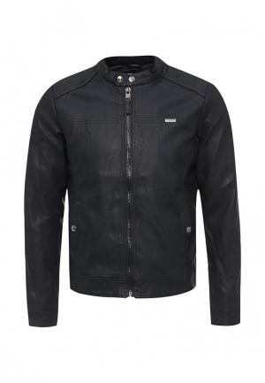 Куртка кожаная Alcott. Цвет: синий