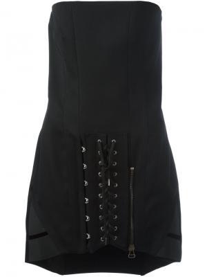 Платье без бретелек Anthony Vaccarello. Цвет: чёрный