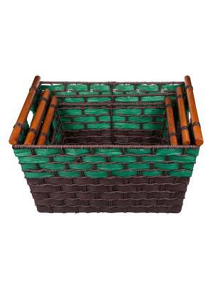 Ящик для хранения Miolla. Цвет: зеленый, коричневый