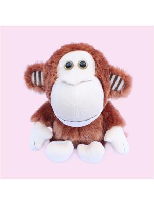 Мягкая игрушка Обезьянка повторяшка 13.90.1 цвет коричневый Malvina. Цвет: коричневый