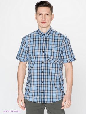 Рубашка S.OLIVER. Цвет: голубой, серый