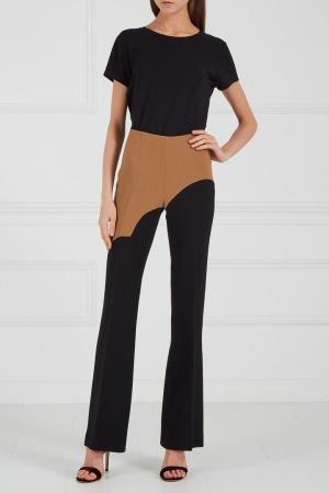 Комбинированные брюки черные Chapurin. Цвет: multicolor