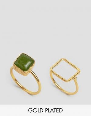 Ottoman Hands Наборные кольца. Цвет: золотой
