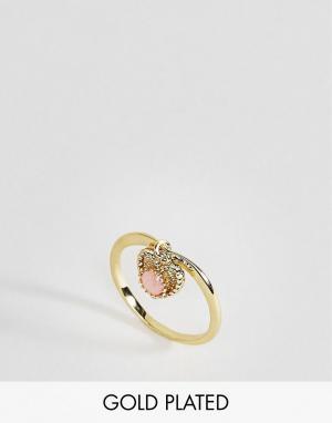 Rock 'N' Rose Кольцо с опалом. Цвет: золотой
