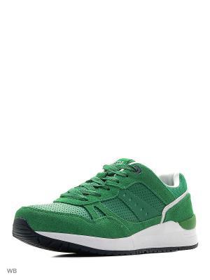 Кроссовки Ascot. Цвет: зеленый, белый