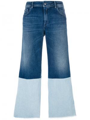 Укороченные джинсы с контрастными вставками The Seafarer. Цвет: синий