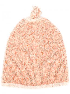 Шапка ребристой вязки Forte. Цвет: жёлтый и оранжевый