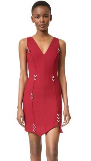 Платье без рукавов Mugler. Цвет: carmin