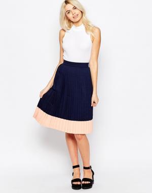 The WhitePepper Плиссированная юбка миди. Цвет: черный