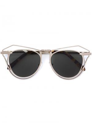 Солнцезащитные очки Marguerite Karen Walker Eyewear. Цвет: коричневый