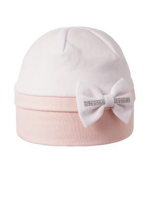 Шапка Elo-Melo. Цвет: бледно-розовый, белый