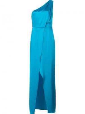 Длинное платье Stacey Zac Posen. Цвет: синий