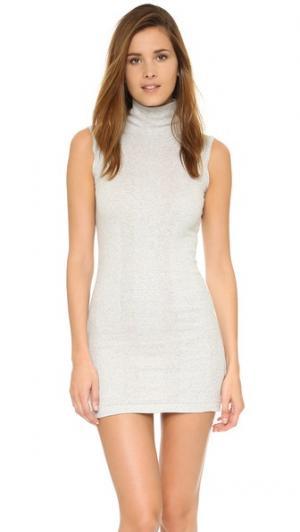 Мини-платье без рукавов Edith A. Miller. Цвет: снежный серый