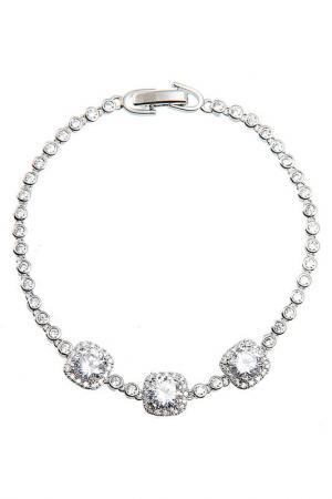 Браслет Цирконы - ZrO2 jewells. Цвет: белый