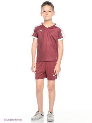 Шорты Pitch Shorts WithInnerbrief Puma. Цвет: бордовый