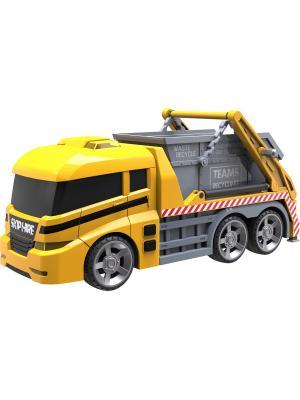 Машинка Roadsterz Самосвал-бункеровоз со светом и звуком HTI. Цвет: желтый