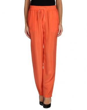 Повседневные брюки EUROPEAN CULTURE. Цвет: коралловый