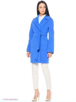 Пальто Shokolat. Цвет: голубой