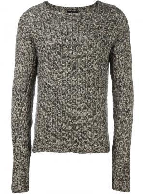 Фактурный свитер Lost & Found Ria Dunn. Цвет: серый