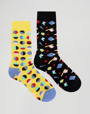 Urban Eccentric Набор из 2 пар носков с принтом. Цвет: мульти