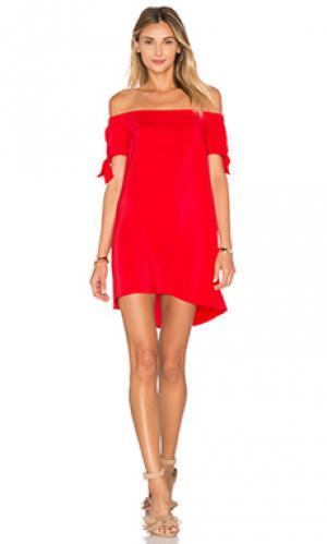 Платье desiree Amanda Uprichard. Цвет: красный