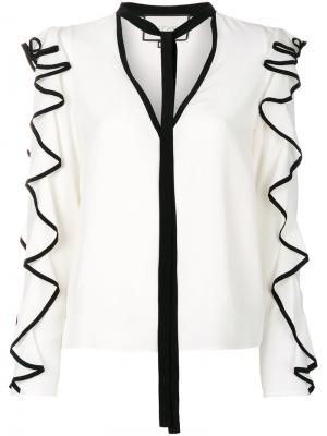 Блузка с оборками Alexis. Цвет: чёрный