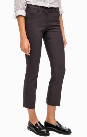 Классические укороченные брюки olsen. Цвет: серый