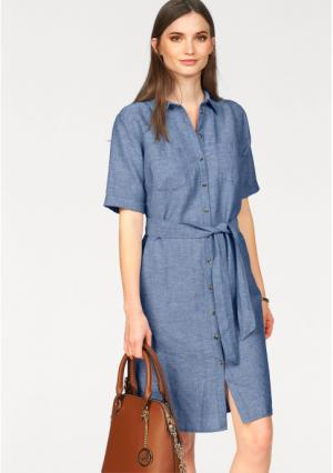 Платье-рубашка Laura Scott. Цвет: синий