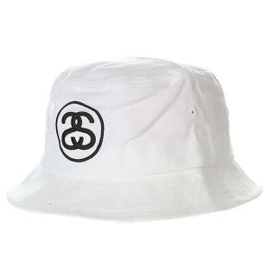 Панама  Link Bucket Hat Shiny White Stussy. Цвет: белый