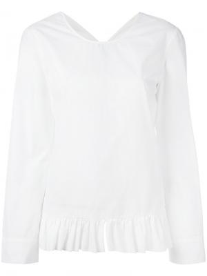 Блузка с рюшами Jucca. Цвет: белый