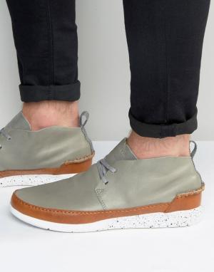 Boxfresh Кожаные кроссовки Statley. Цвет: серый