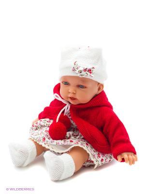 Кукла Азалия в красном, озвученная, 27 см Antonio Juan. Цвет: красный