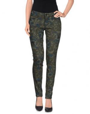 Повседневные брюки REIKO. Цвет: зеленый-милитари