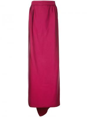 Длинная юбка Paule Ka. Цвет: розовый и фиолетовый