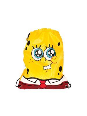 Мешок для обуви Губка Боб Gulliver. Цвет: желтый, коричневый