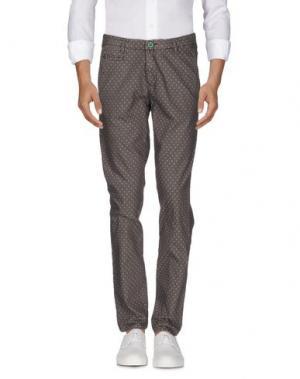 Джинсовые брюки BARBATI. Цвет: хаки