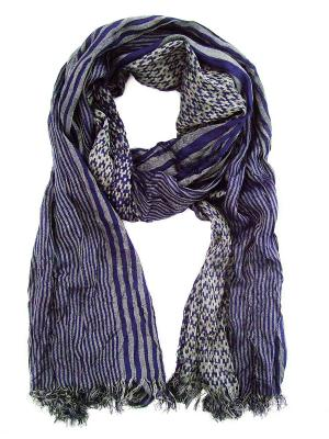 Платок Passigatti. Цвет: синий, серый