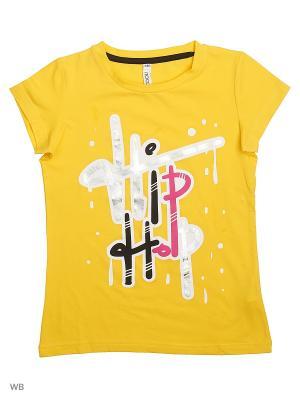 Футболка S`Cool. Цвет: желтый, белый, черный, розовый