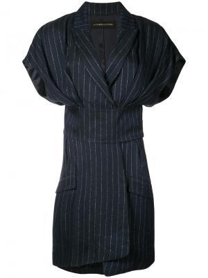 Платье в тонкую полоску Alexandre Vauthier. Цвет: синий