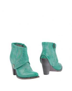 Полусапоги и высокие ботинки HTC. Цвет: изумрудно-зеленый
