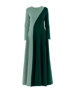 Платье трикотажное макси двухцветное Bella kareema