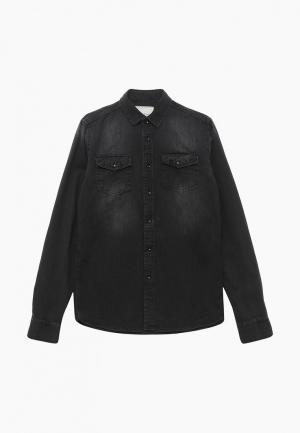Рубашка джинсовая LC Waikiki. Цвет: черный