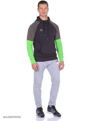 Джемпер CON16 HOODY Adidas. Цвет: серо-коричневый, салатовый, серый