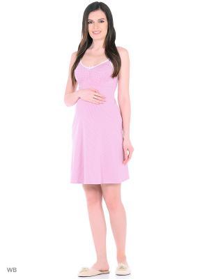 Ночная сорочка Hunny Mammy. Цвет: молочный, розовый