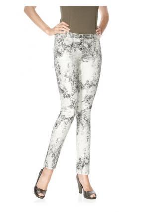 Моделирующие брюки Ashley Brooke. Цвет: серебристый/белый