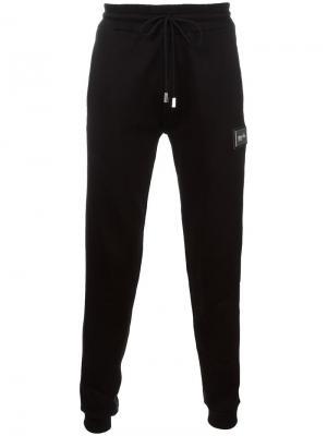 Спортивные брюки с эластичными манжетами Blood Brother. Цвет: чёрный